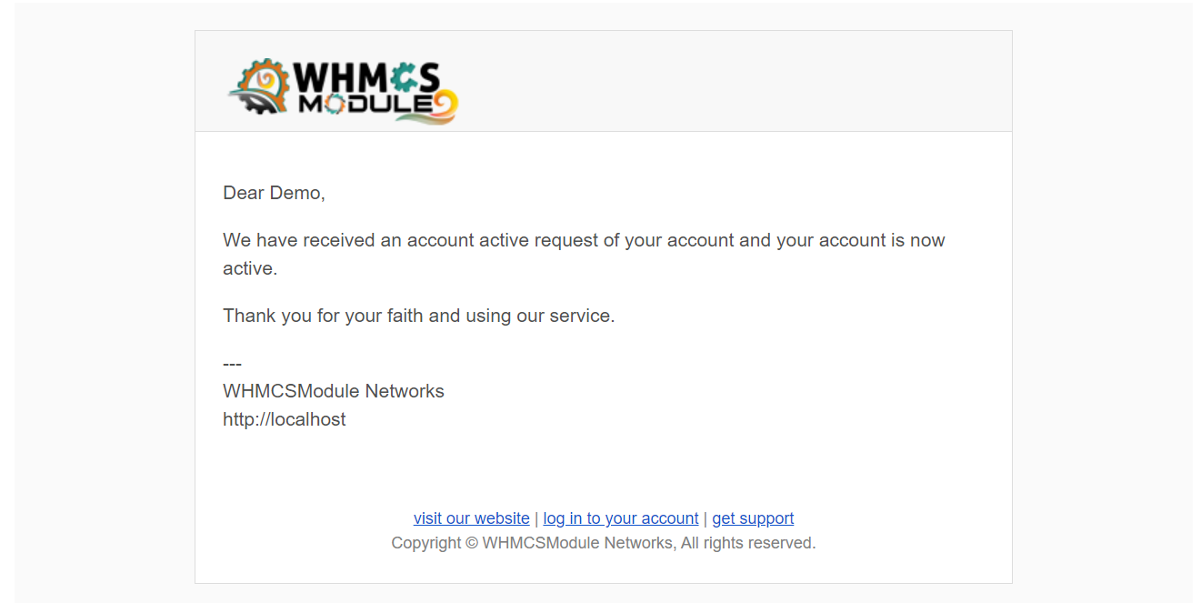 Account Status Extended Module for WHMCS