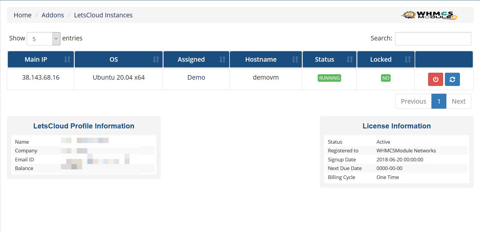 LetsCloud Automation WHMCS Module