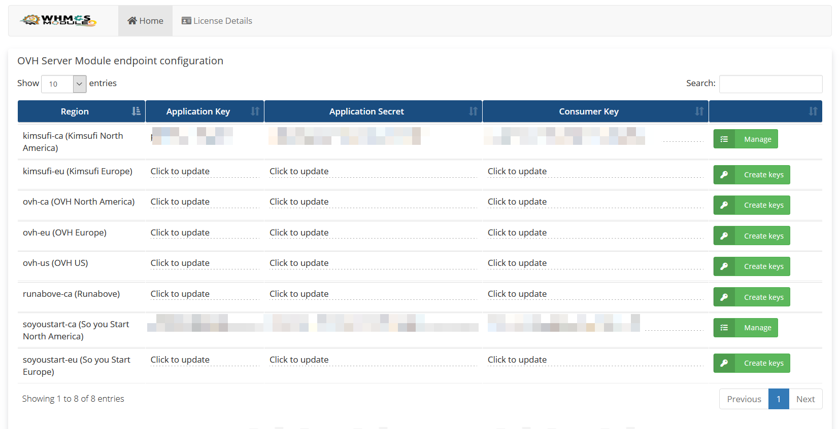 Openstack Cloud Automation WHMCS Module
