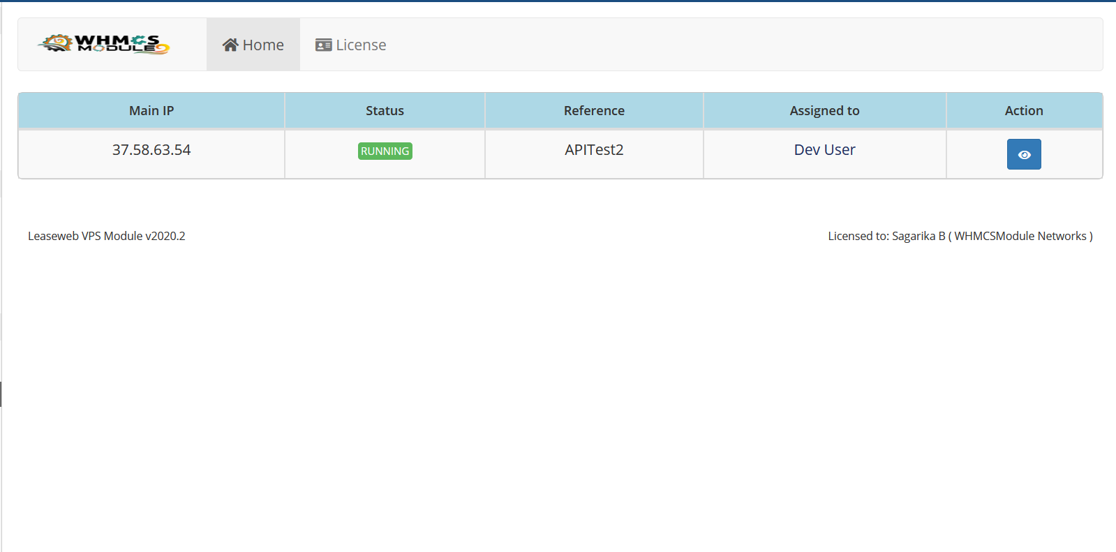 Leaseweb VPS WHMCS Module