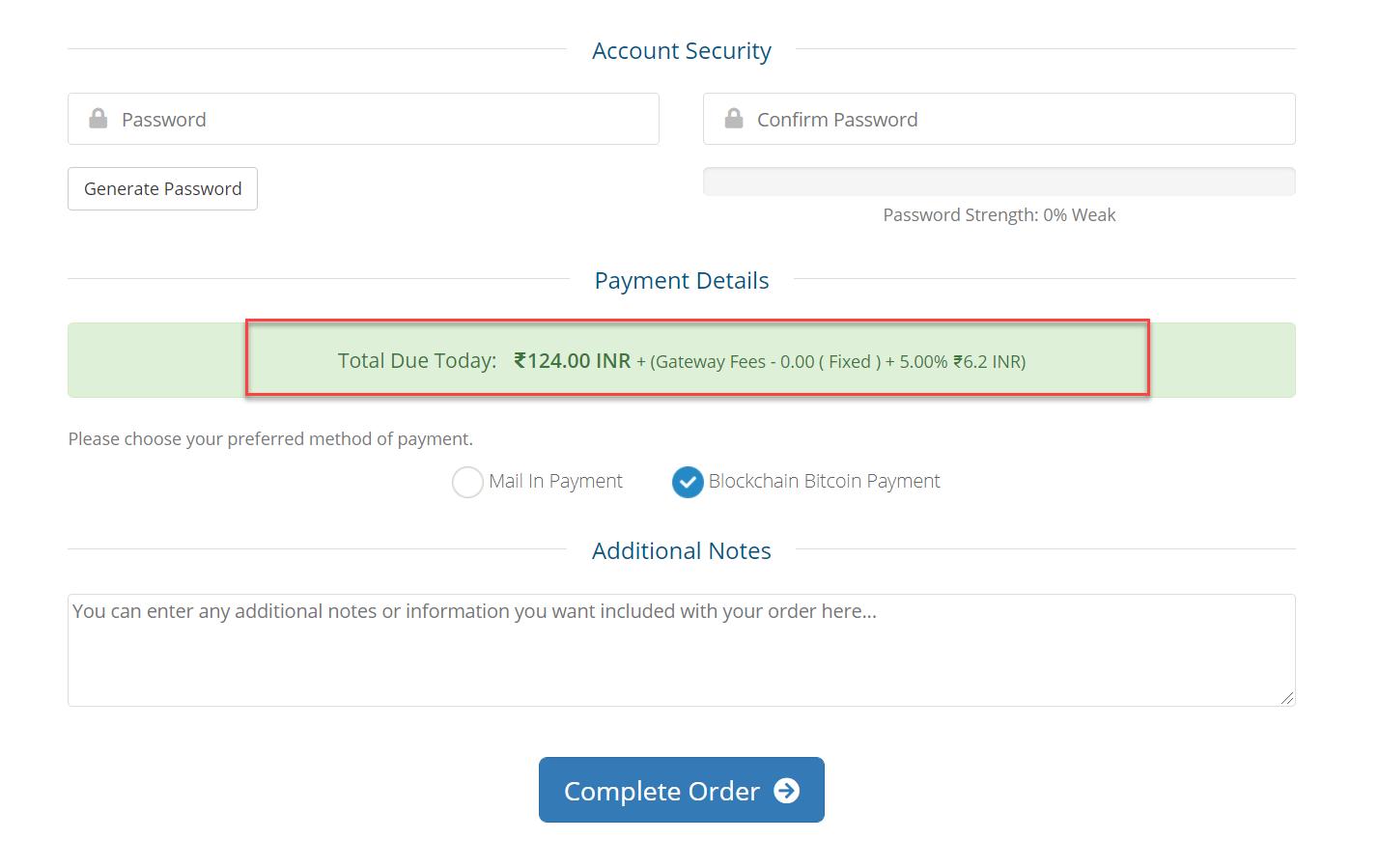 Payment Gateway Fees WHMCS Module