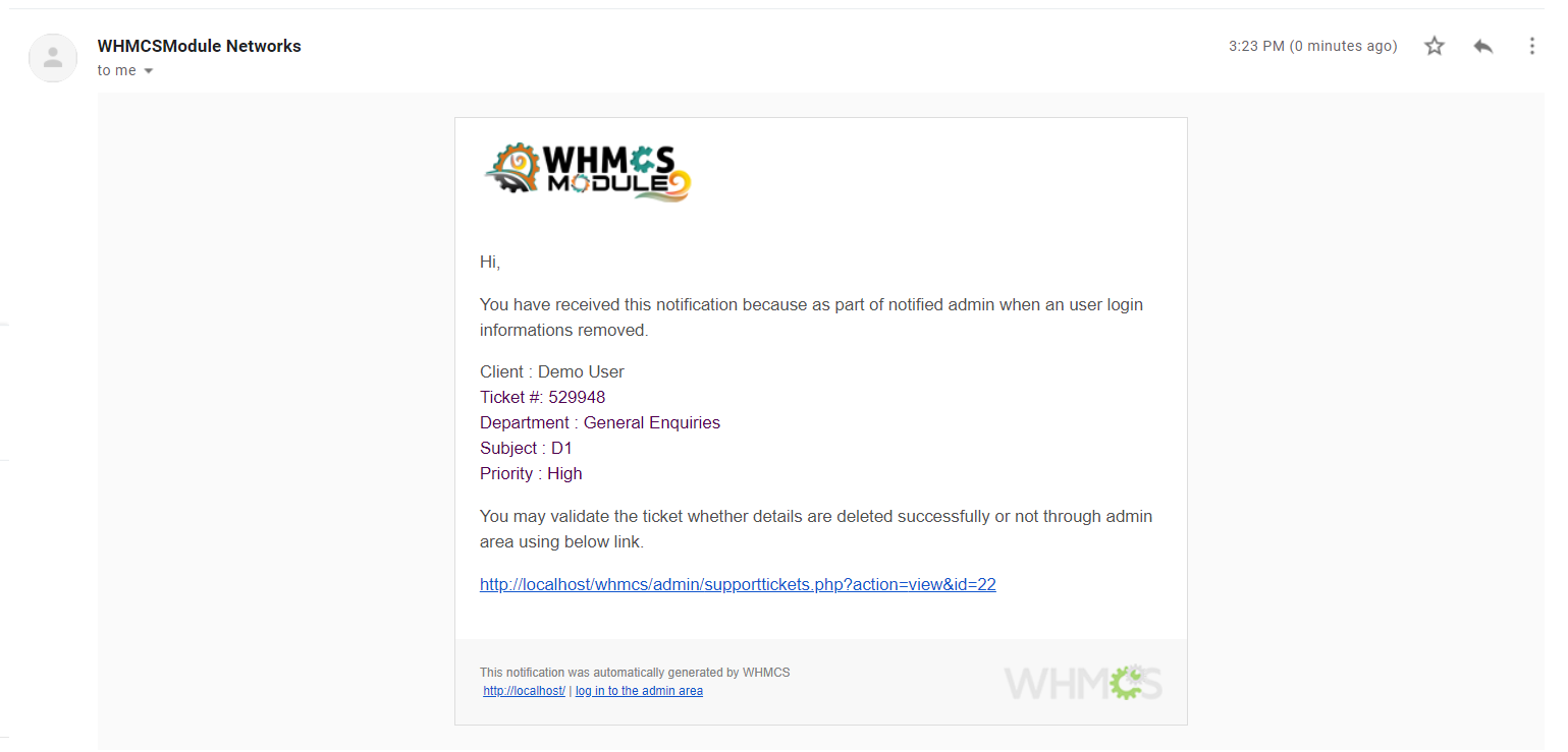 Ticket Secure for WHMCS