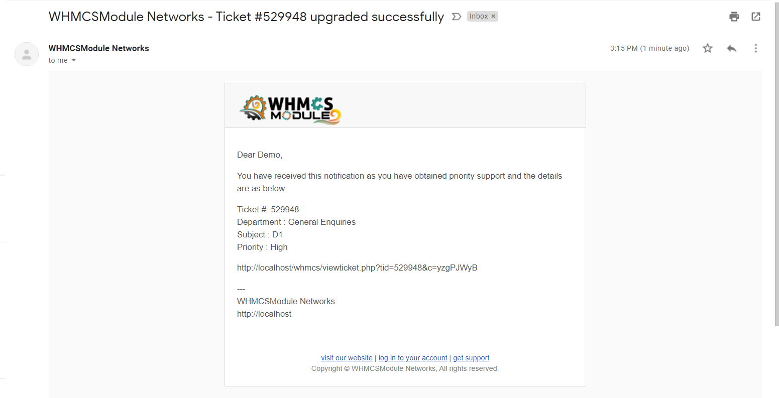 Premium support for WHMCS