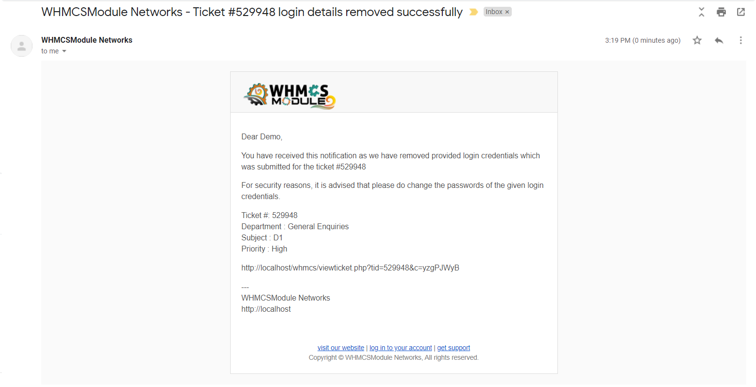 Sensitive Information for WHMCS